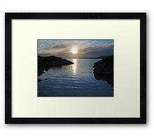 Trawenagh Bay at Sunset 2 Framed Print