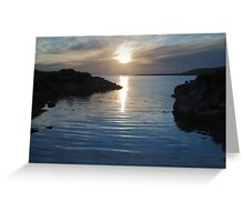 Trawenagh Bay at Sunset 2 Greeting Card