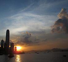 Wan Chai Sunset by Gwehydd