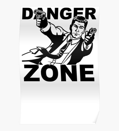 Archer Danger Zone FX TV Funny Cartoon Cotton Blend Adult T Shirt Poster