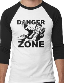 Archer Danger Zone FX TV Funny Cartoon Cotton Blend Adult T Shirt Men's Baseball ¾ T-Shirt