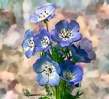 Blue Flower by BoB Davis