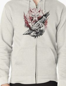 Final Fantasy Amano Homage Zipped Hoodie