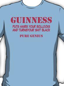 BEER GUINNESS TSHIRT BLACK LARGE IRISH PADDYS DAY FUNNY RUDE B0LLOCKS T-Shirt