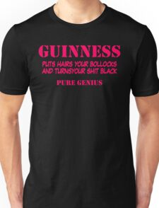 BEER GUINNESS TSHIRT BLACK LARGE IRISH PADDYS DAY FUNNY RUDE B0LLOCKS Unisex T-Shirt