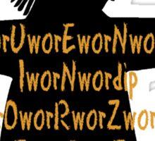 Fluent in Worzelese Sticker