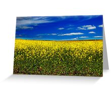 Yellow & Blue Greeting Card