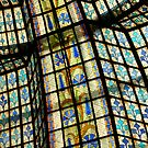 Stained Glass Ceiling - Paris, France by Jenny Hambleton