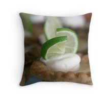 key lime tart Throw Pillow