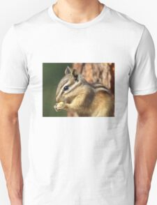 Adorable little chipmunk eating corn. T-Shirt