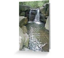 Water over Granite Greeting Card