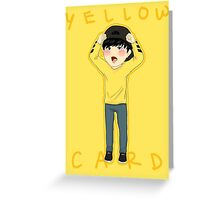 Yellow Card JIMIN Greeting Card