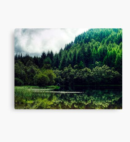 Reflections On Loch Chon, Scotland Canvas Print