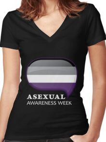 AAW Logo (Dark) Women's Fitted V-Neck T-Shirt