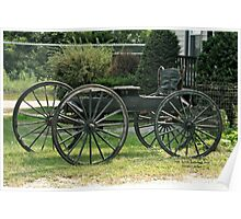 Old horse carriage Poster