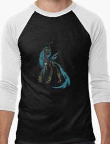 My Little Pony - MLP - FNAF - Queen Chrysalis Animatronic Men's Baseball ¾ T-Shirt