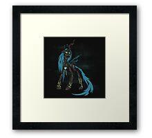 My Little Pony - MLP - FNAF - Queen Chrysalis Animatronic Framed Print