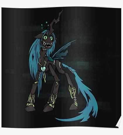 My Little Pony - MLP - FNAF - Queen Chrysalis Animatronic Poster