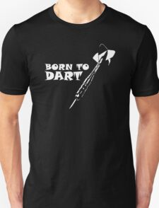 Born to Dart Pfeil Arrow Bullseye Triple Double 180 Club Profi T-Shirt