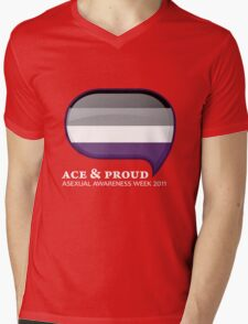AAW Ace & Proud (Dark) Mens V-Neck T-Shirt