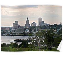 Dusk Descending Over Providence - Rhode Island Poster