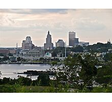 Dusk Descending Over Providence - Rhode Island Photographic Print