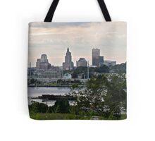 Dusk Descending Over Providence - Rhode Island Tote Bag