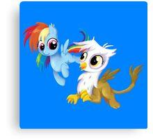 My Little Pony - MLP - Filly Rainbow Dash and Gilda Canvas Print