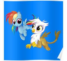 My Little Pony - MLP - Filly Rainbow Dash and Gilda Poster