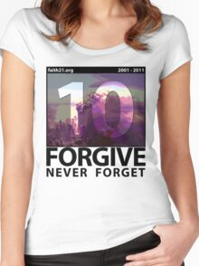 Forgive: 9/11 Ten Year Anniversary Women's Fitted Scoop T-Shirt