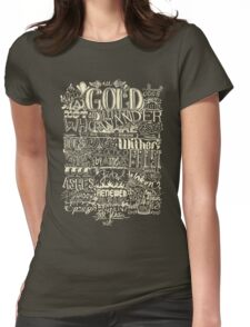 All That is Gold does not Glitter (Light) Womens Fitted T-Shirt