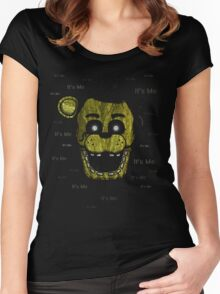 Five Nights at Freddy's - FNAF 3 - Phantom Freddy - It's Me Women's Fitted Scoop T-Shirt
