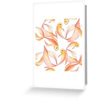 Watercolor fish pattern Greeting Card