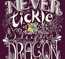 Never Tickle a Sleeping Dragon (Color, Light) by Holly Faulkner