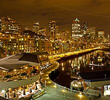 Pier 66 Seattle at Nightfall by Robert H Carney