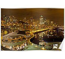 Pier 66 Seattle at Nightfall Poster