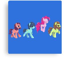 My Little Pony - MLP - Pinkie Pie and The Beatles Canvas Print