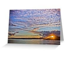Sunset, Sound of Sleat Greeting Card