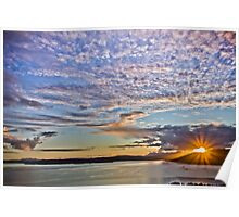 Sunset, Sound of Sleat Poster