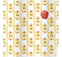 Pattern with apple slice  Poster