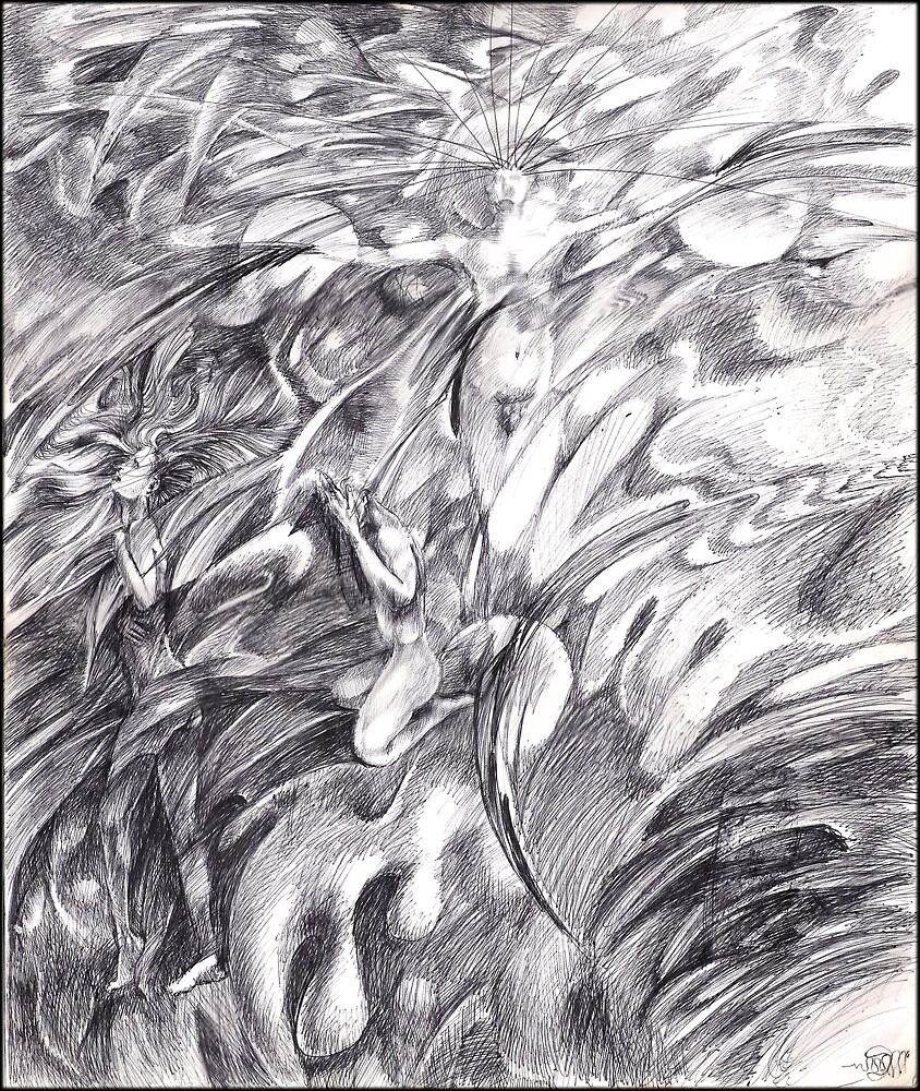 Adam & Eve (the drawing) by Davol White