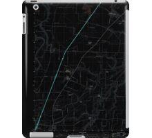 USGS Topo Map Oregon Gervais 20110826 TM Inverted iPad Case/Skin
