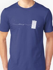Allons-y to the TARDIS Unisex T-Shirt
