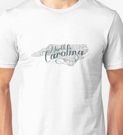 North Carolina State Typography Unisex T-Shirt