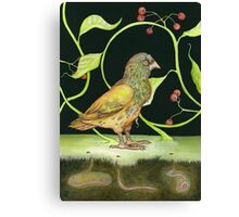 Berries & Green Canvas Print