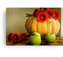 Halloween pumpkin card  Canvas Print