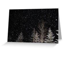 Snowy sky  Greeting Card