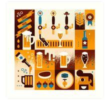 Craft Beer Concept Art Print