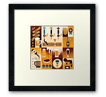 Craft Beer Concept Framed Print