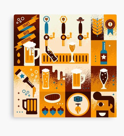 Craft Beer Concept Canvas Print